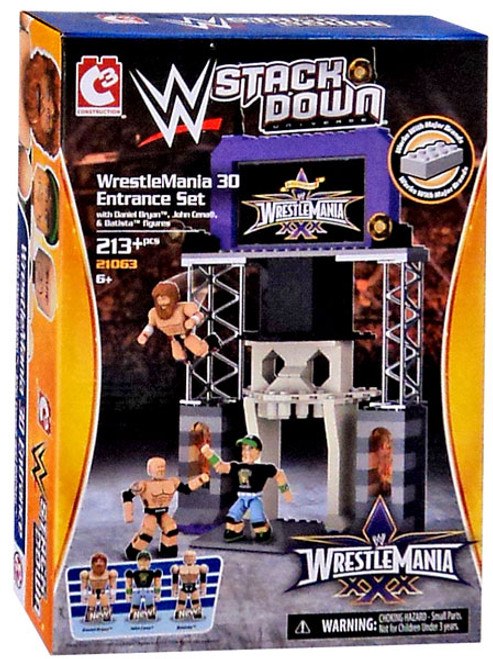 WWE Wrestling C3 Construction StackDown WrestleMania 30 Entrance Exclusive Playset #21063