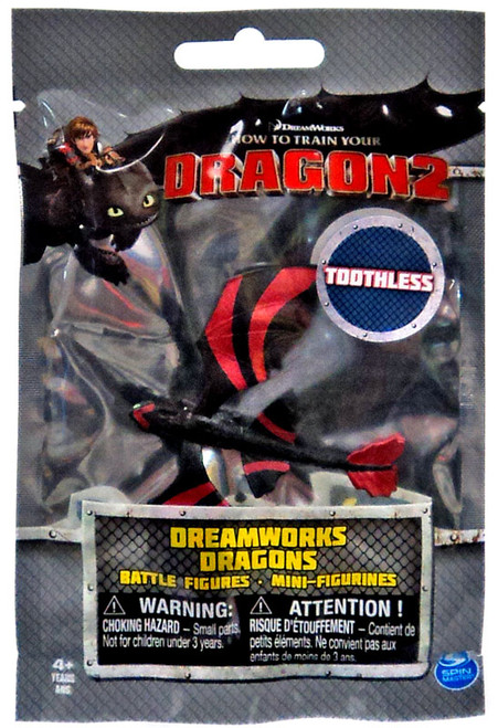 How to Train Your Dragon 2 Dreamworks Dragons Battle Figures Toothless Mini Figure