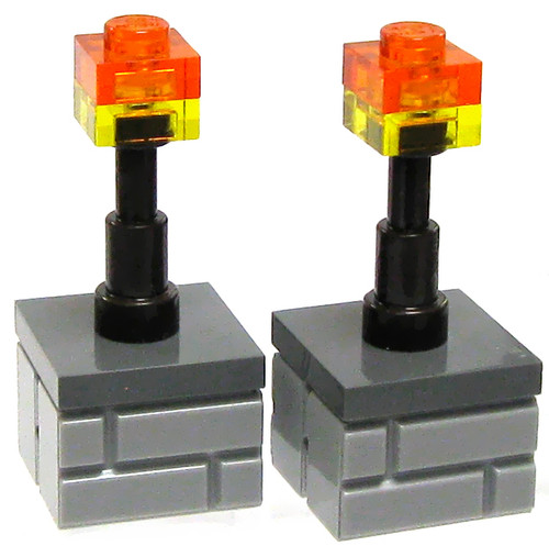 LEGO Minecraft Pair of Torches Accessory [Loose]