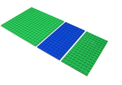 LEGO Minecraft Set of 3 Plates Terrain [Loose]