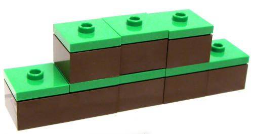 LEGO Minecraft Lot of 6 Grass Blocks Terrain [Loose]