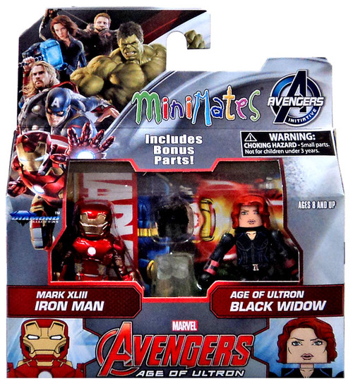 Marvel Avengers Age of Ultron Minimates Series 61 Iron Man & Black Widow Minifigure 2-Pack