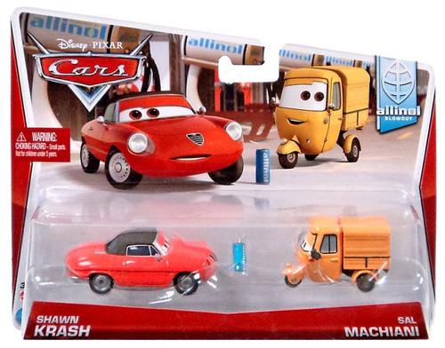 Disney / Pixar Cars Mainline Shawn Krash & Sal Machiani Diecast Car 2-Pack #4/9 & 5/9