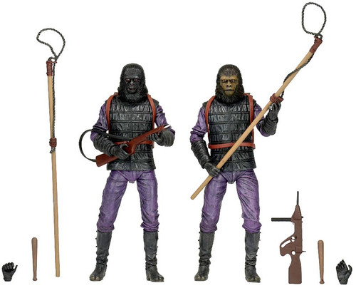NECA Planet of the Apes Classic Series 2 Gorilla Soldier Infantry Exclusive Action Figure 2-Pack