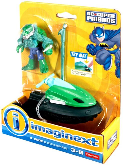 Fisher Price DC Super Friends Imaginext K. Croc & Swamp Ski 3-Inch Figure Set