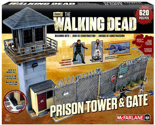 McFarlane Toys The Walking Dead Prison Tower & Gate Building Set #14527