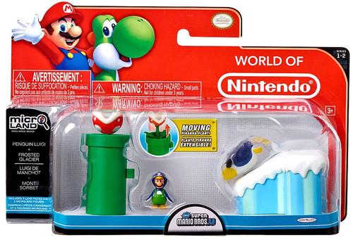World of Nintendo New Super Mario Bros U Micro Land Playset Penguin Luigi & Frosted Glacier Playset