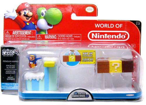 World of Nintendo New Super Mario Bros U Micro Land Playset Penguin Mario & Frosted Glacier Playset