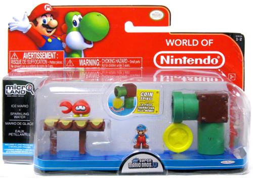 World of Nintendo New Super Mario Bros U Micro Land Playset Ice Mario & Sparkling Water Playset
