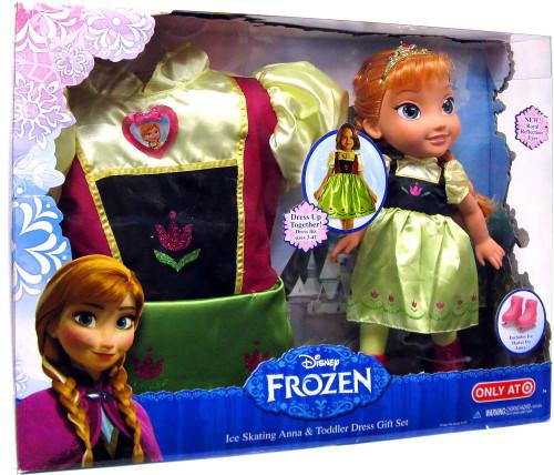 Disney Frozen Ice Skating Anna & Toddler Dress Gift Set