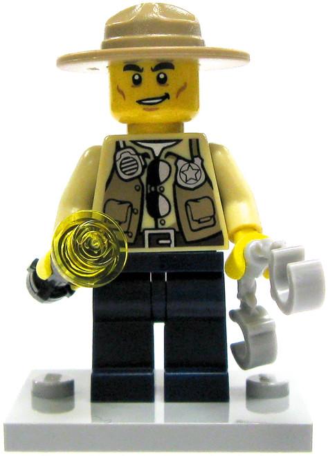 LEGO City Swamp Police Sheriff Minifigure [Loose]
