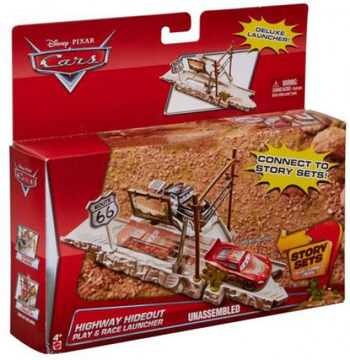 Disney / Pixar Cars Story Sets Highway Hideout Diecast Car Track Set [Rout 66 Speed Trap]