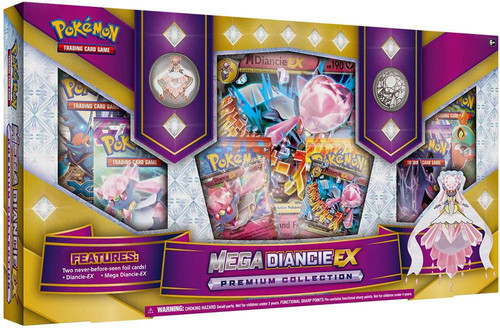 Pokemon Trading Card Game XY Mega Diancie EX Premium Collection Box [6 Booster Packs, 2 Promo Cards, Oversize Card, Pin & Coin]