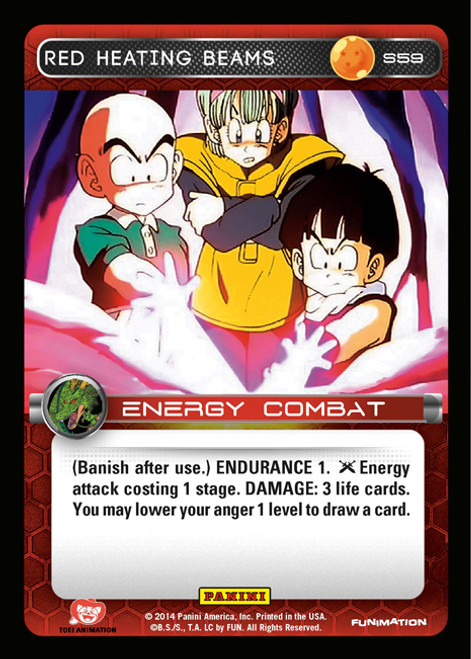 Dragon Ball Z CCG 2014 Starter Set Fixed Foil Red Heating Beams S59