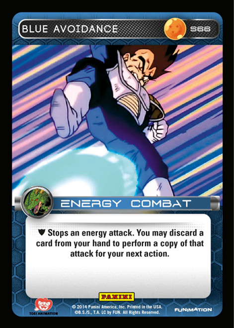 Dragon Ball Z CCG 2014 Starter Set Fixed Foil Blue Avoidance S66