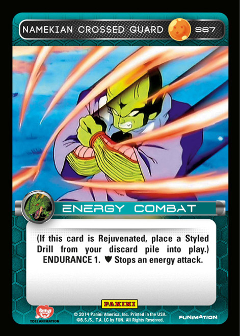 Dragon Ball Z CCG 2014 Starter Set Fixed Foil Namekian Crossed Guard S67