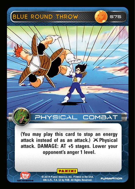Dragon Ball Z CCG 2014 Starter Set Fixed Foil Blue Round Throw S75