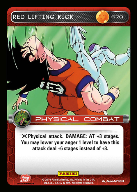 Dragon Ball Z CCG 2014 Starter Set Fixed Foil Red Lifting Kick S79