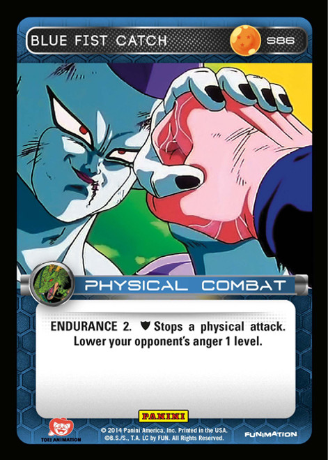 Dragon Ball Z CCG 2014 Starter Set Fixed Foil Blue Fist Catch S86