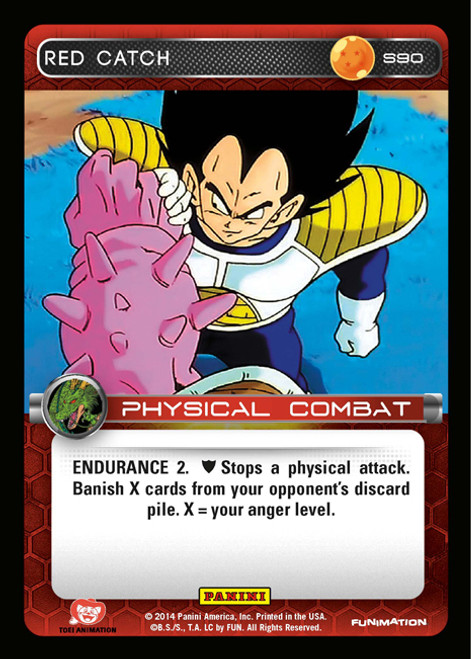 Dragon Ball Z CCG 2014 Starter Set Fixed Foil Red Catch S90