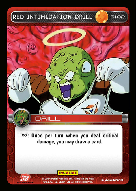 Dragon Ball Z 2014 Starter Set Fixed Foil Red Intimidation Drill S102