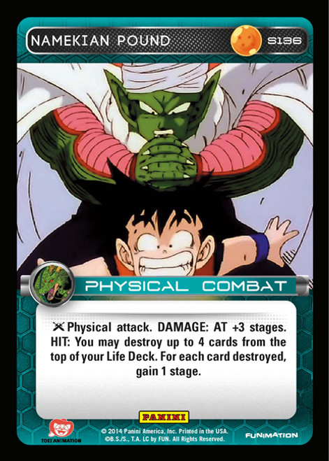 Dragon Ball Z CCG 2014 Starter Set Fixed Foil Namekian Pound S136