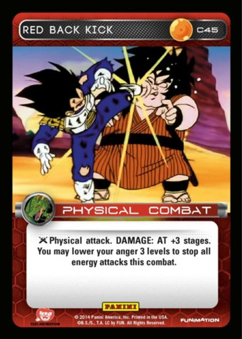 Dragon Ball Z CCG Set 1 Common Foil Red Back Kick C45