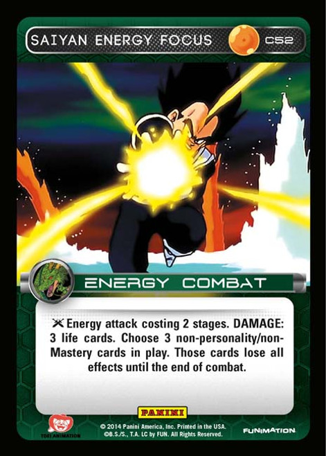 Dragon Ball Z Set 1 Common Foil Saiyan Energy Focus C52