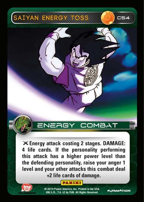 Dragon Ball Z CCG Set 1 Common Foil Saiyan Energy Toss C54
