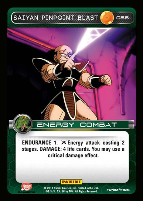 Dragon Ball Z CCG Set 1 Common Foil Saiyan Pinpoint Blast C56