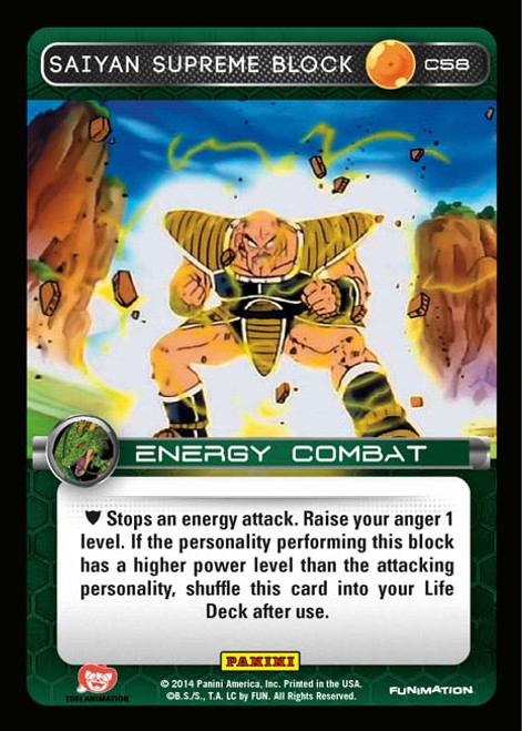 Dragon Ball Z Set 1 Common Foil Saiyan Supreme Block C58