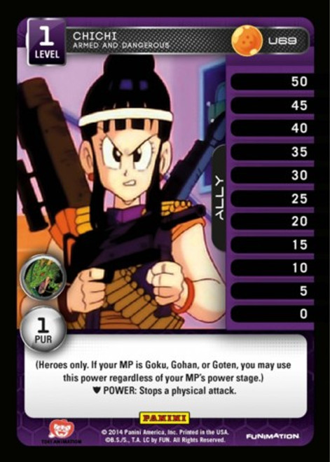 Dragon Ball Z Set 1 Uncommon Foil ChiChi - Armed and Dangerous U69