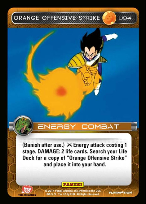 Dragon Ball Z CCG Set 1 Uncommon Foil Orange Offensive Strike U94