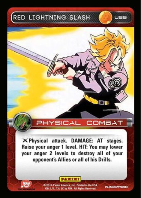 Dragon Ball Z Set 1 Uncommon Foil Red Lightning Slash U99