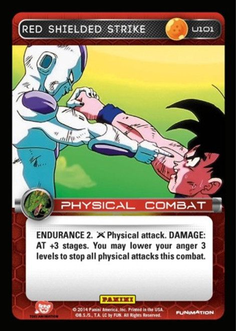 Dragon Ball Z CCG Set 1 Uncommon Foil Red Shielded Strike U101