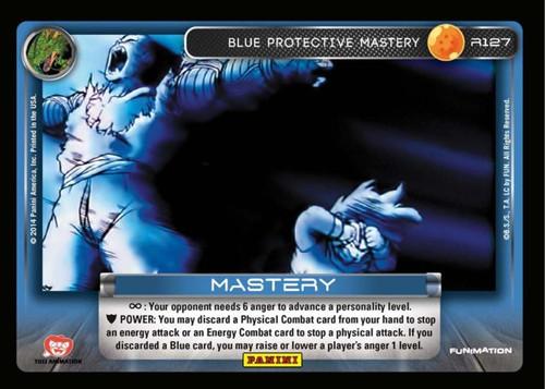Dragon Ball Z Set 1 Rare Foil Blue Protective Mastery R127