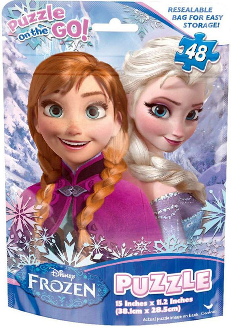 Disney Frozen Puzzle on the Go Anna & Elsa Puzzle [48 Pieces]