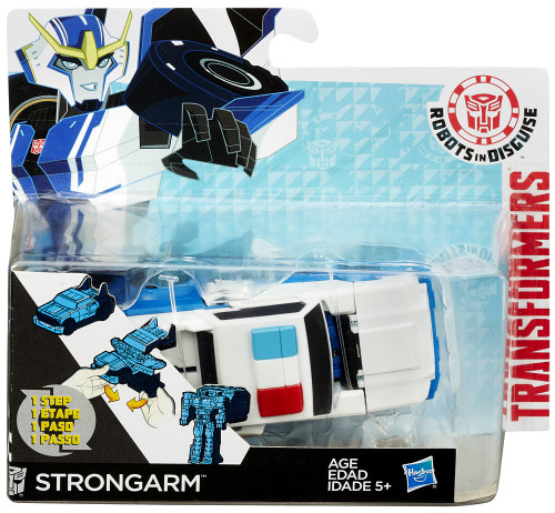 "Transformers Robots in Disguise 1 Step Changers Strongarm 5"" Action Figure [White Hood]"