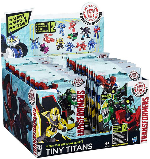 Transformers Robots in Disguise Tiny Titans Series 1 Mystery Box [24 Packs]