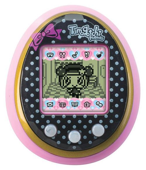 Tamagotchi Friends Polka Dot with Bow Virtual Pet [Black & Pink]