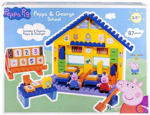 Peppa Pig Peppa& George School Construction Set #92698