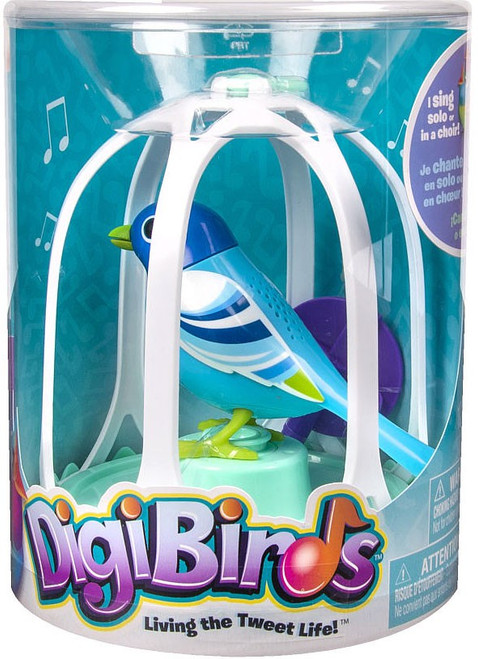 DigiBirds Blue Bird with Bird Cage