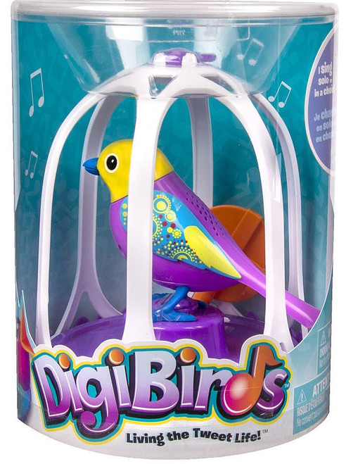 DigiBirds Purple Bird with Bird Cage