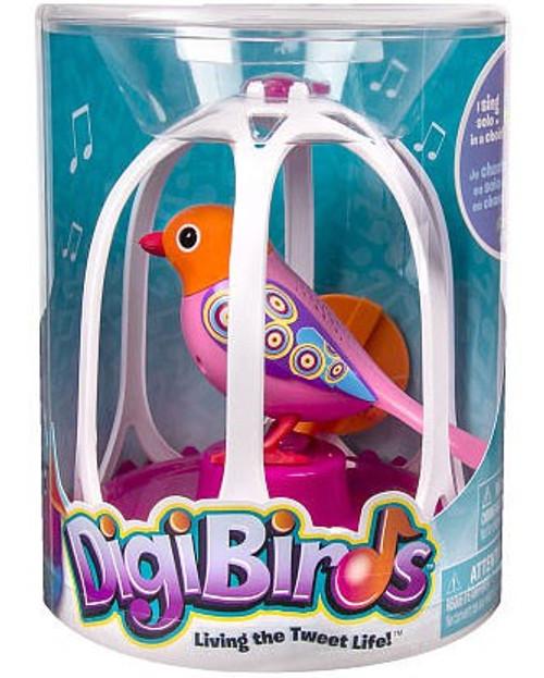 DigiBirds Pink Bird with Bird Cage