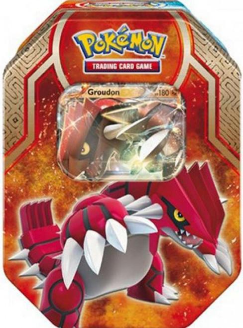 Pokemon Trading Card Game 2015 Legends of Hoenn Groudon-EX Tin Set [4 Booster Packs & Promo Card]