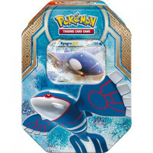 Pokemon Trading Card Game 2015 Legends of Hoenn Kyogre-EX Tin Set [4 Booster Packs & Promo Card!]