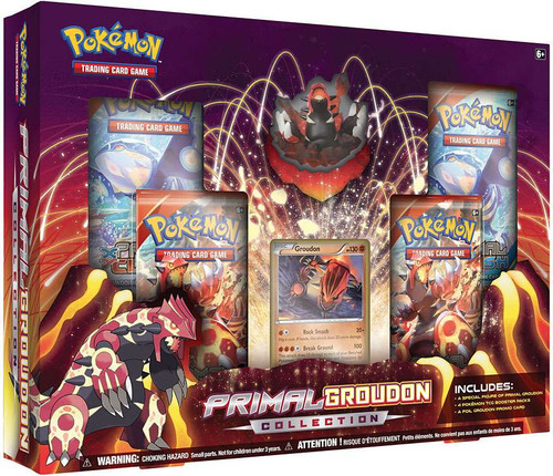 Pokemon Trading Card Game XY Primal Groudon Figure Collection [4 Booster Packs, Figure & Promo Card!]