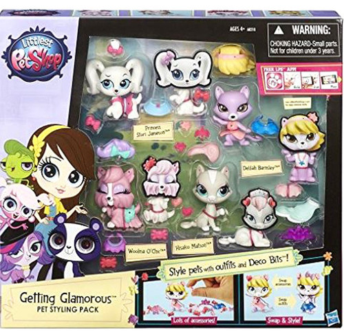 Littlest Pet Shop Getting Glamorous Pet Styling Figure Pack