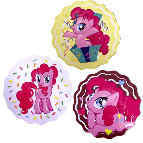 My Little Pony Set of all 3 Party Cupcake Candy Tin [Whtie, Brown & Yellow]