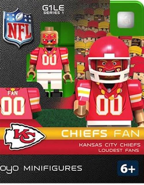 Kansas City Chiefs NFL Generation 2 Series 1 Chiefs Fan Minifigure
